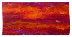 Storm Clouds Sunset Beach Sheet by Gail Kent