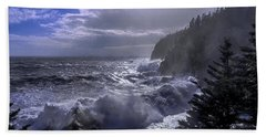 Beach Towel featuring the photograph Storm Lifting At Gulliver's Hole by Marty Saccone