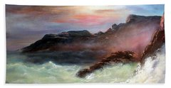 Beach Sheet featuring the painting Storm On Mount Desert Island by Lee Piper