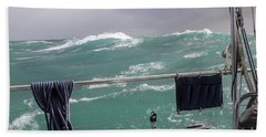 Storm On Tasman Sea Beach Towel