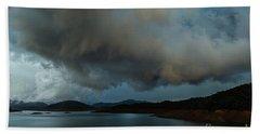 Storm Over Lake Shasta Beach Towel