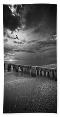 Storm Over Naples Florida Beach Beach Sheet by Bradley R Youngberg