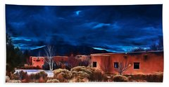Storm Over Taos Lx - Homage Okeeffe Beach Towel