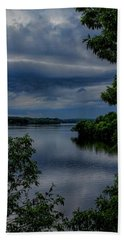 Storm Rolling Over Lake Wausau Beach Towel