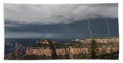 Storms At The Grand Canyon North Rim Beach Towel