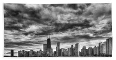 Storms Over Chicago Beach Towel