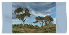 Stormy Eucalyptus Beach Towel