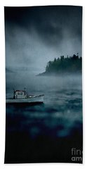 Stormy Night Off The Coast Of Maine Beach Towel