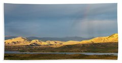 Stormy Sky With Rays Of Sunshine Beach Towel by Nadja Rider