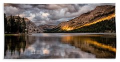 Stormy Sunset At Tenaya Beach Towel by Cat Connor