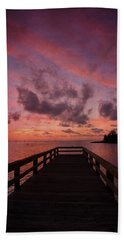 Stormy Sunset Beach Towel by Beverly Stapleton