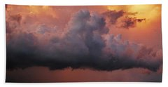 Stormy Sunset Beach Towel by Ed Sweeney