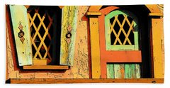 Storybook Window And Door Beach Towel