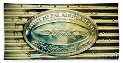 Stout Metal Airplane Co. Emblem Beach Towel by Susan Garren