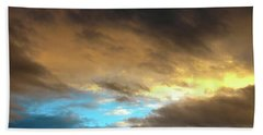 Stratus Clouds At Sunset Bring Serenity Beach Towel
