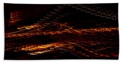 Streaks Across The Bridge Beach Towel