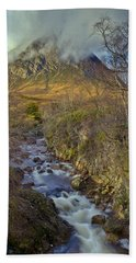 Stream Below Buachaille Etive Mor Beach Sheet by Gary Eason