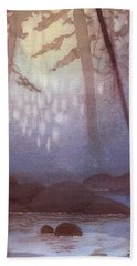 Stream In Mist Beach Towel