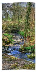 Beach Towel featuring the photograph Stream In Wales by Doc Braham