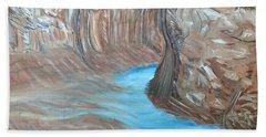 Streams Dream To Be A River Beach Towel