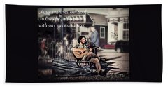 Beach Towel featuring the photograph Street Beats Inspiration by Melanie Lankford Photography