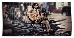 Beach Towel featuring the photograph Street Beats by Melanie Lankford Photography