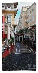 Street Of Capri Beach Towel