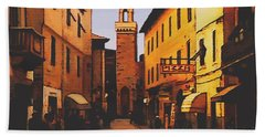 Street Scene Beach Towel