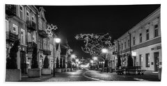 Streets Before Christmas Beach Towel