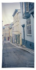 Streets Of Old Quebec City Beach Towel