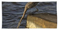 Beach Sheet featuring the photograph Stretch - Great Blue Heron by Meg Rousher