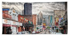 Strip District Pittsburgh Beach Towel