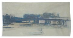 Study For Charing Cross Bridge, 1899-1901 Oil On Canvas Beach Towel