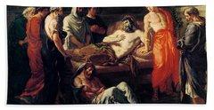 Study For The Death Of Marcus Aurelius Beach Towel