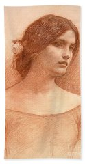 Study For The Lady Clare Beach Towel