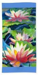 Styalized Lily Pads 3 Beach Towel by Kathy Braud