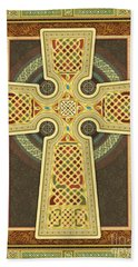 Stylized Celtic Cross Beach Sheet