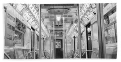 New York City - Subway Car Beach Towel