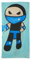 Subzero Frozen Heart Beach Towel