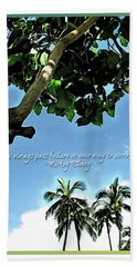 Success And Failure Botanical Inspiration Beach Towel