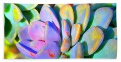 Succulent Color - Botanical Art By Sharon Cummings Beach Towel