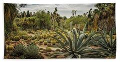 Succulents At Huntington Desert Garden No. 3 Beach Sheet