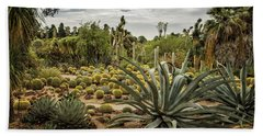 Beach Towel featuring the photograph Succulents At Huntington Desert Garden No. 3 by Belinda Greb