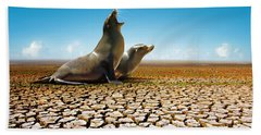 Suffering Seals Beach Towel