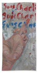 Je Suis Charlie Finger Painting To Al Qaeda Beach Towel