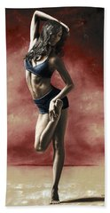 Sultry Dancer Beach Towel