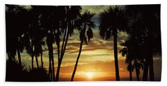 Beach Sheet featuring the photograph Sultry Sunset by Janie Johnson