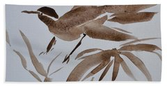 Sumi Bird Beach Towel