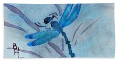 Sumi Dragonfly Beach Towel