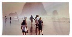 Summer At The Seashore  Beach Towel